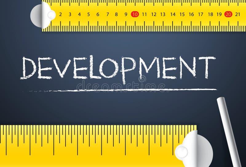 Desarrollo de proyecto de medición Distinta manera de medir el índice de desarrollo humano del país su de lado de la gestión o de stock de ilustración