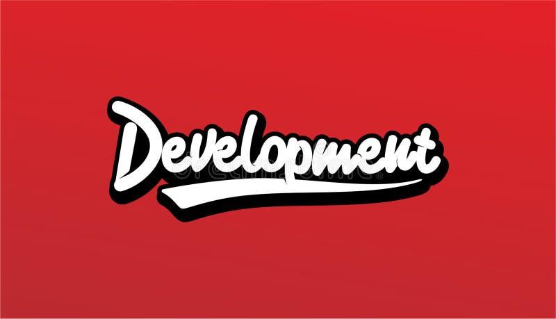 Desarrollo del diseño de letras, vector de Handwritte y caligráfico en la ropa foto de archivo libre de regalías
