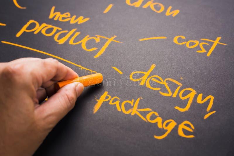 Desarrollo del diseño de producto foto de archivo