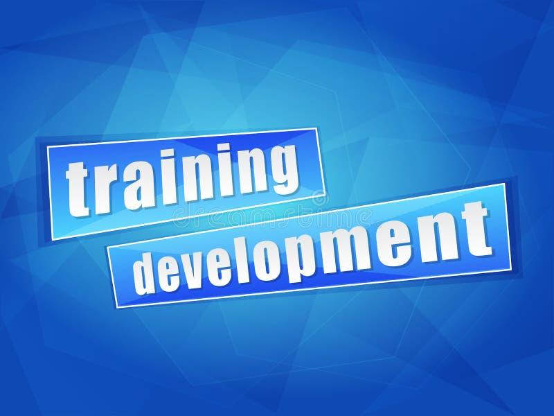 Desarrollo del entrenamiento, diseño plano stock de ilustración
