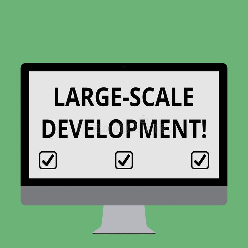 Desarrollo del gran escala del texto de la escritura El significado del concepto se convierte sobre una base extensa para crecer  ilustración del vector