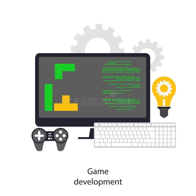 Desarrollo del juego ilustración del vector