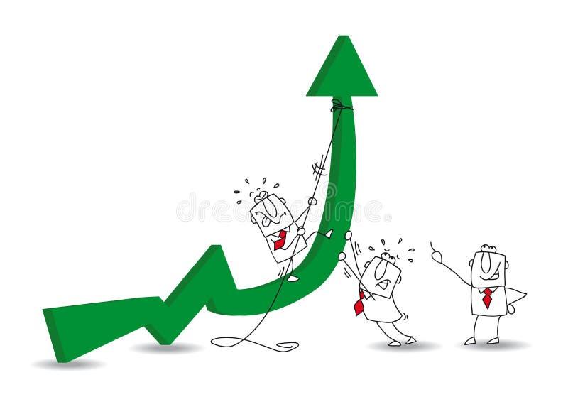 Desarrollo económico ilustración del vector