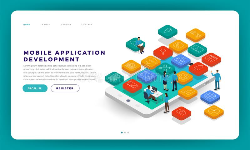 Desarrollo móvil del app libre illustration