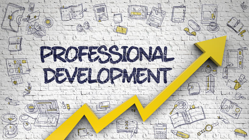 Desarrollo profesional dibujado en Brickwall blanco 3d libre illustration