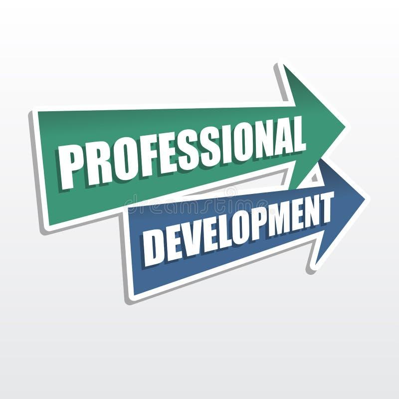 Desarrollo profesional en flechas, diseño plano imagen de archivo