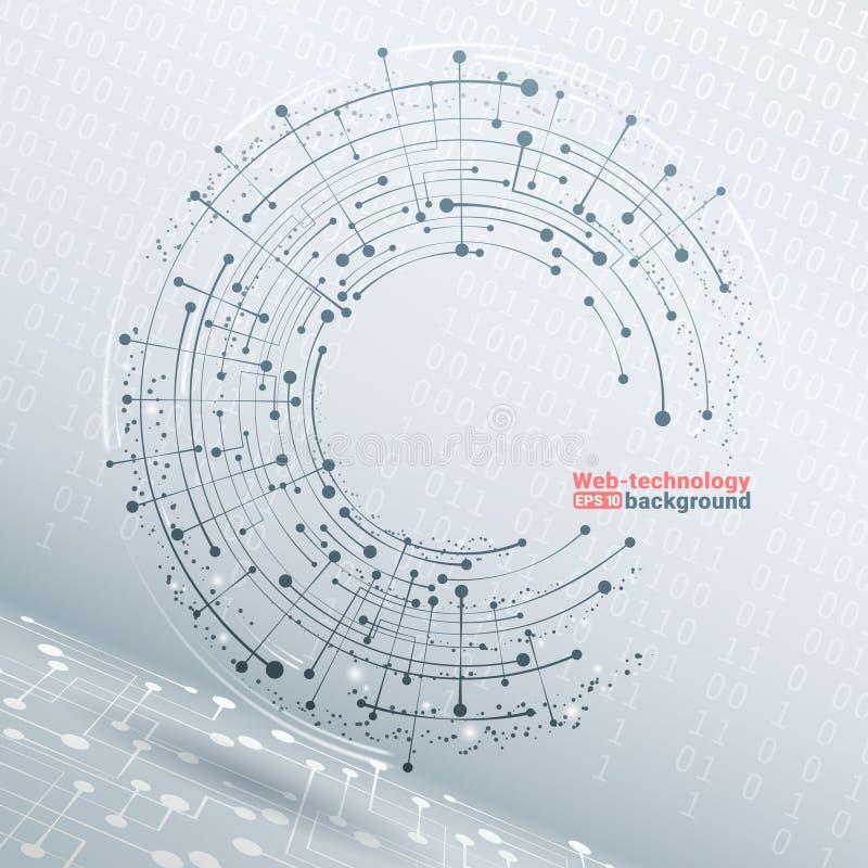 Desarrollo tecnológico y comunicación Vector fondo geométrico del vector 3d para la presentación del negocio o de la ciencia stock de ilustración