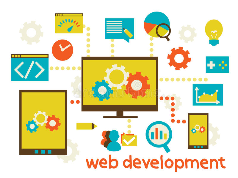 Desarrollo web stock de ilustración