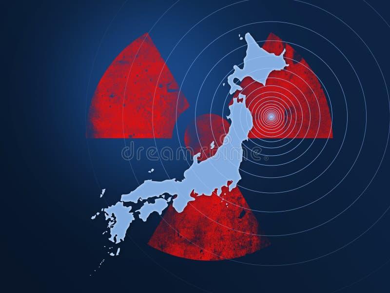 Desastre 2011 del terremoto de Japón ilustración del vector