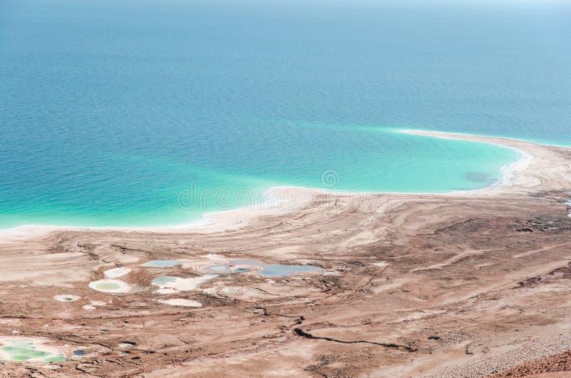 Desastre ambiental natural em costas de Mar Morto fotos de stock royalty free
