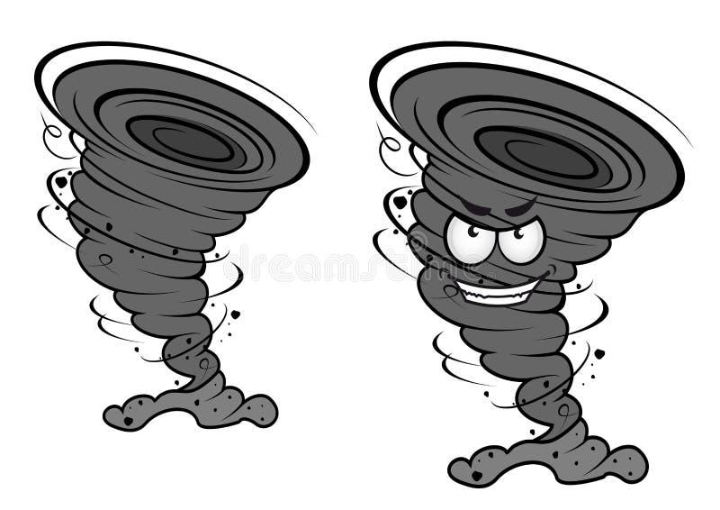 Desastre do furacão do perigo ilustração do vetor