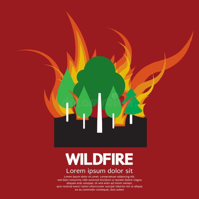 Desastre do incêndio violento ilustração do vetor