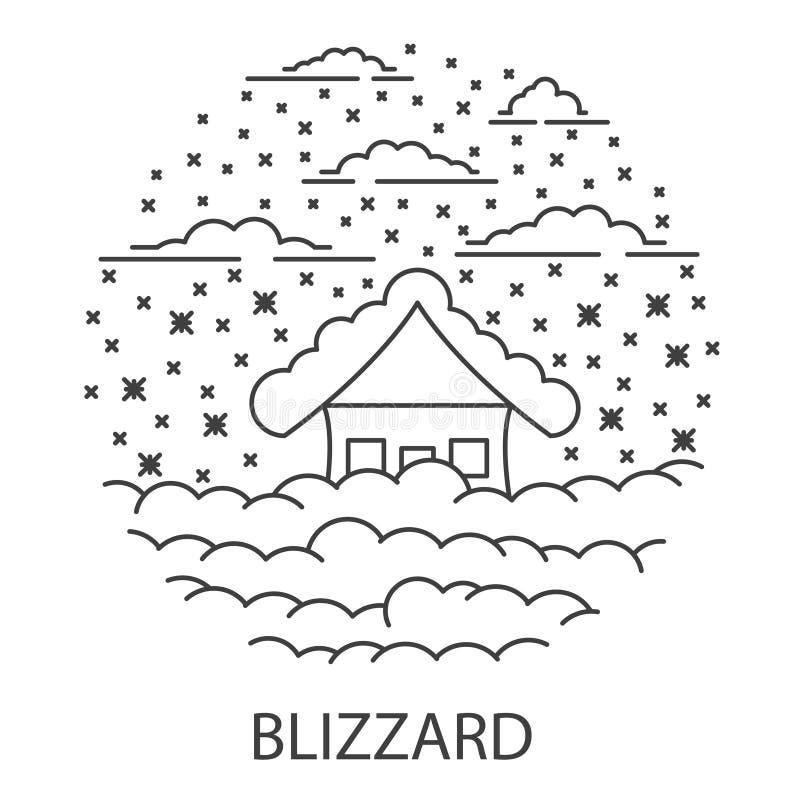 Desastre natural de la ventisca libre illustration