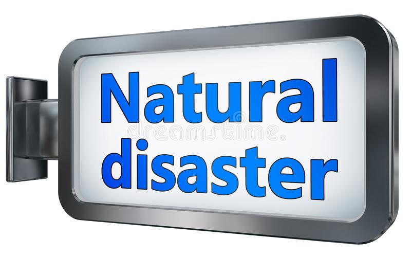 Desastre natural en la cartelera stock de ilustración
