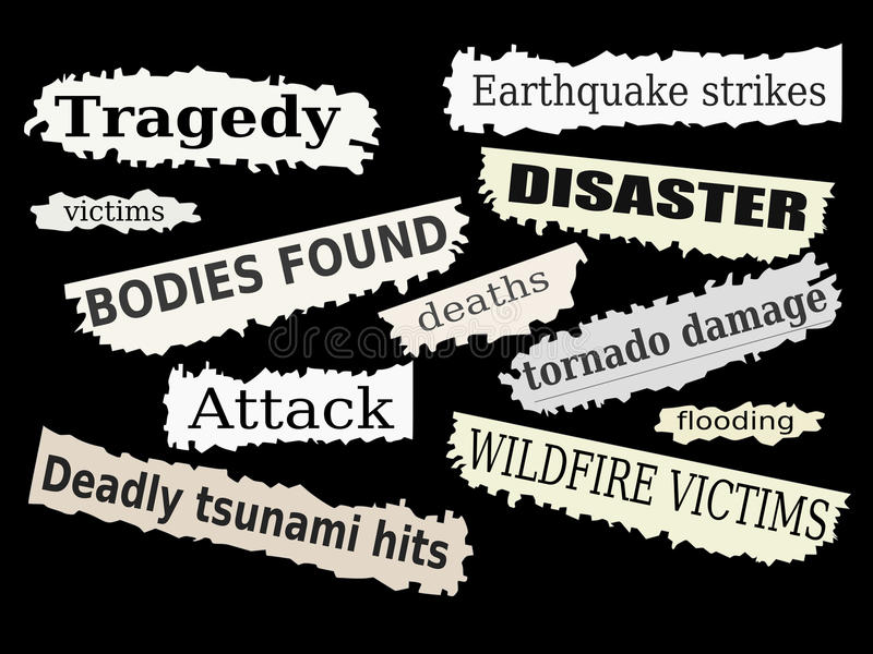 Desastres ilustración del vector