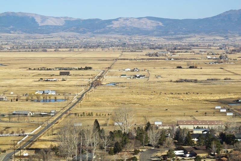 Desatención del Carson River Valley imagenes de archivo