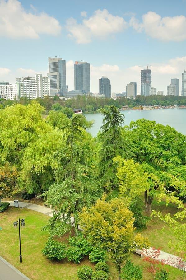 Desatención del parque del lago Xuanwu fotos de archivo