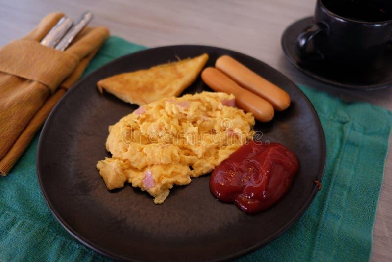 Desayune en la mañana imagen de archivo libre de regalías