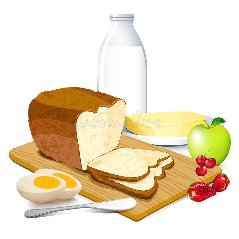 Desayuno ilustración del vector
