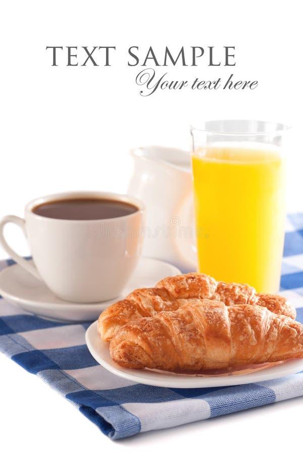 Desayuno aislado imágenes de archivo libres de regalías