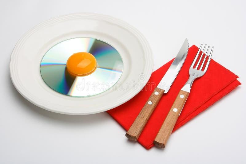 Download Desayuno CD 4 foto de archivo. Imagen de blanco, comida - 1286564