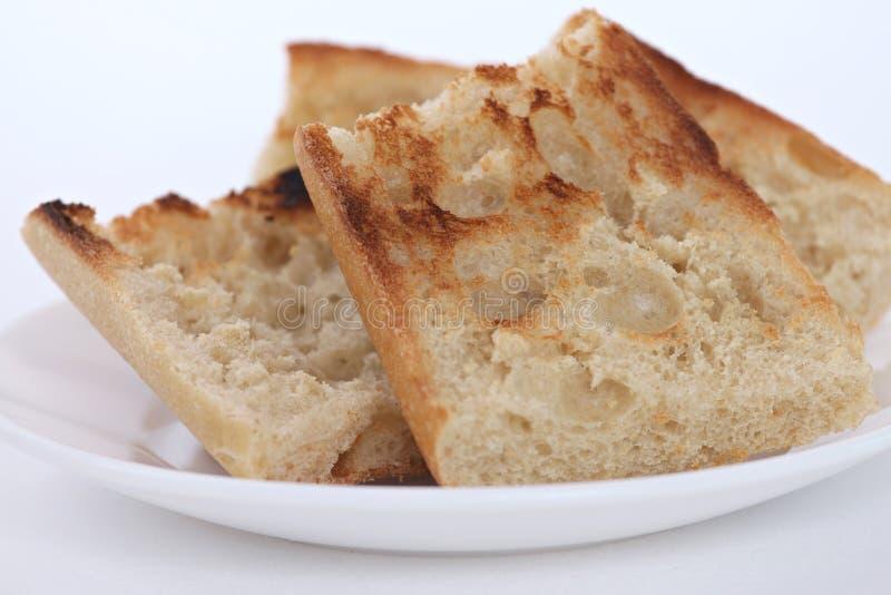 Desayuno con la tostada fotografía de archivo