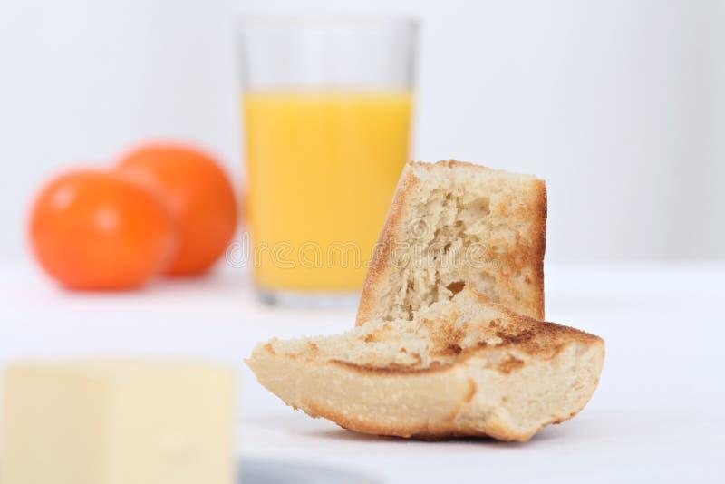 Desayuno con la tostada foto de archivo libre de regalías