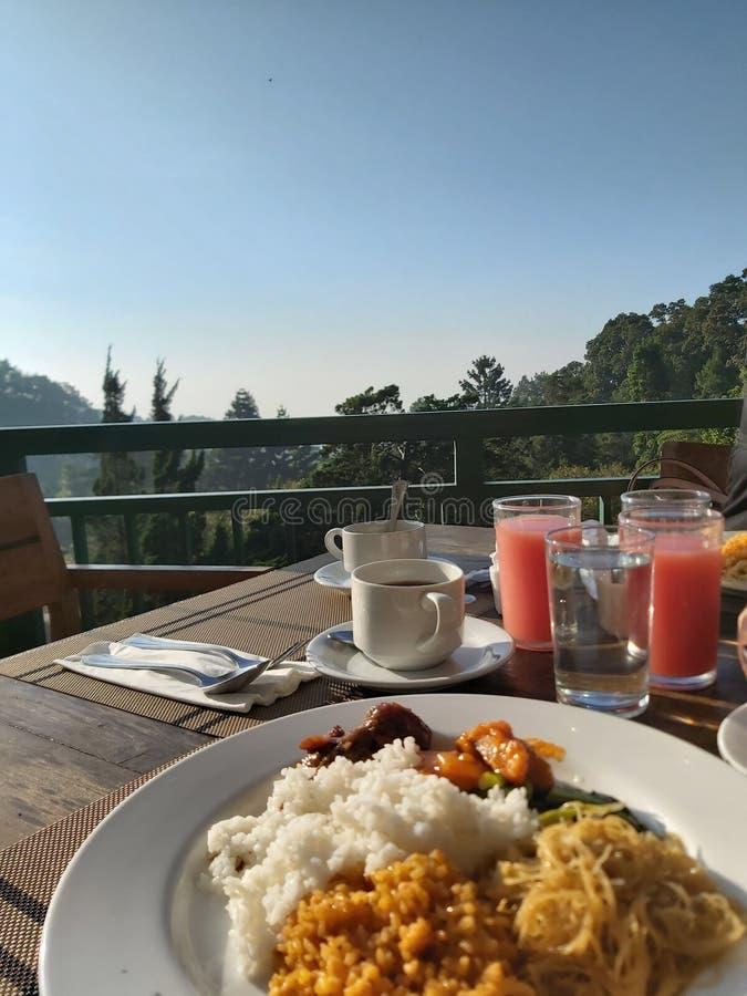 Desayuno con una visi?n fotos de archivo