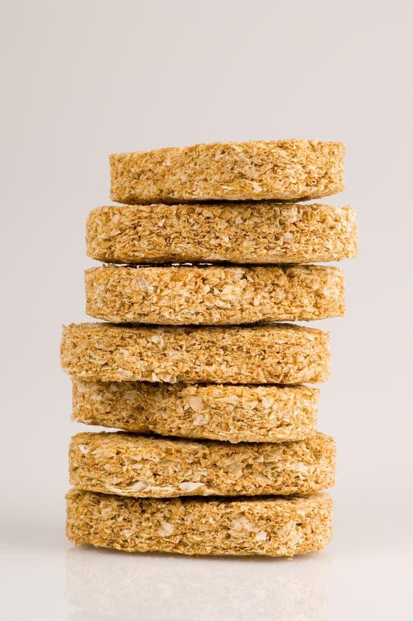 Desayuno de la galleta del trigo foto de archivo libre de regalías