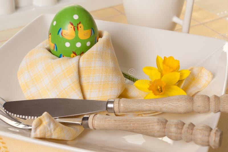 Desayuno de la mañana de Pascua foto de archivo libre de regalías