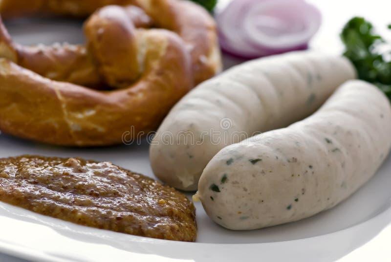 Desayuno de Weisswurst fotografía de archivo