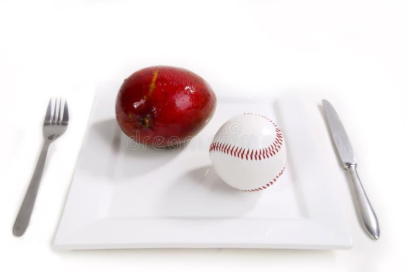 Desayuno del béisbol imágenes de archivo libres de regalías