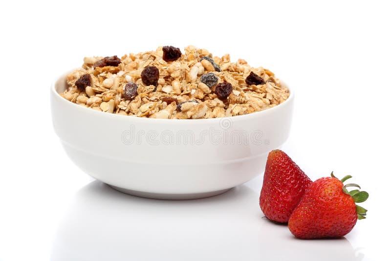 Desayuno del Granola en un tazón de fuente imágenes de archivo libres de regalías