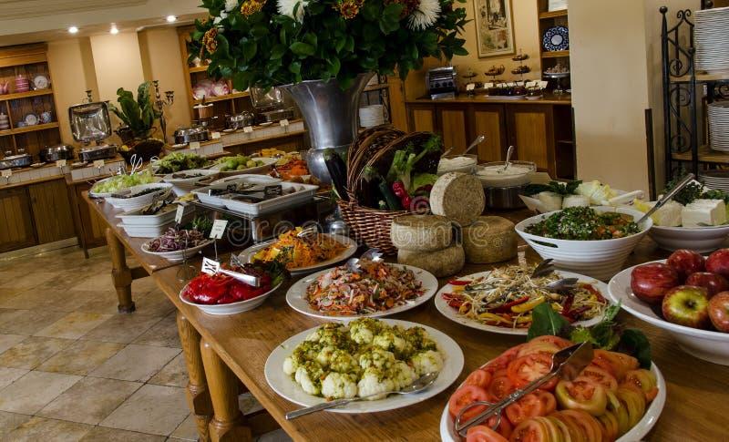 Desayuno delicioso de Mizpe Hayamim fotografía de archivo libre de regalías