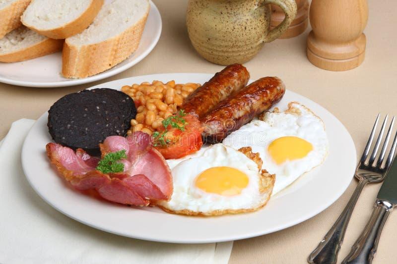 Desayuno frito inglés lleno fotografía de archivo libre de regalías