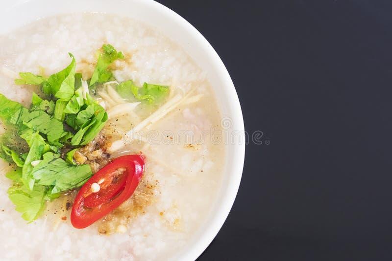 Desayuno hervido estilo tailandés del arroz fotos de archivo libres de regalías
