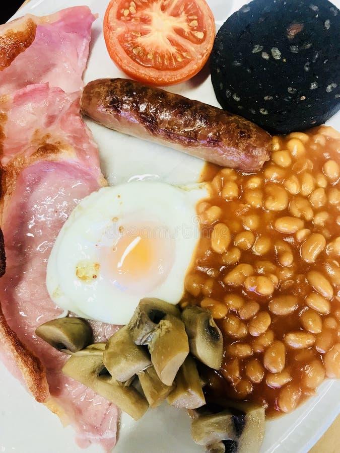 Desayuno inglés lleno fotografía de archivo libre de regalías