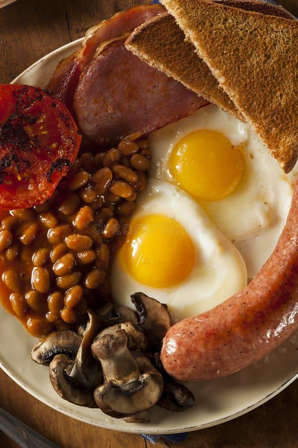 Desayuno inglés lleno tradicional imagenes de archivo