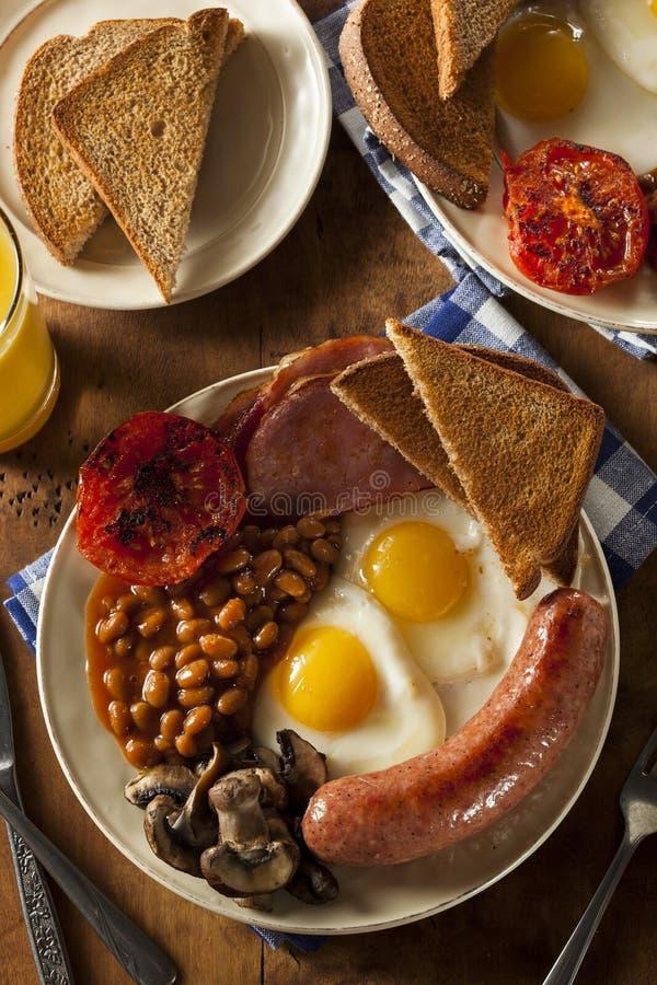 Desayuno inglés lleno tradicional fotos de archivo libres de regalías