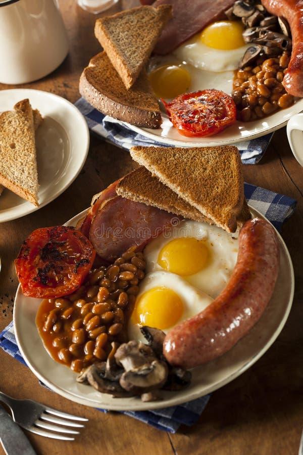 Desayuno inglés lleno tradicional fotos de archivo