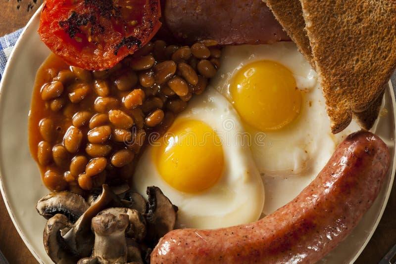Desayuno inglés lleno tradicional imagen de archivo libre de regalías