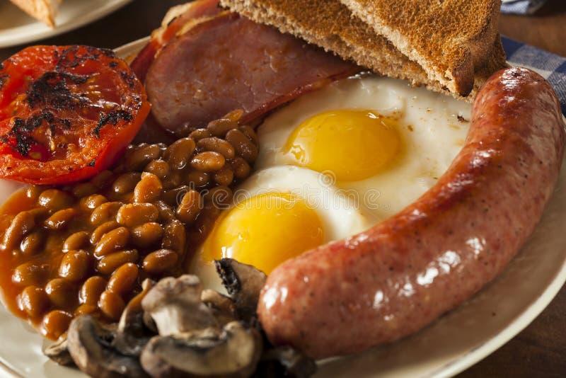 Desayuno inglés lleno tradicional foto de archivo libre de regalías