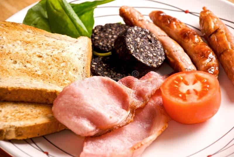 Desayuno irlandés lleno foto de archivo