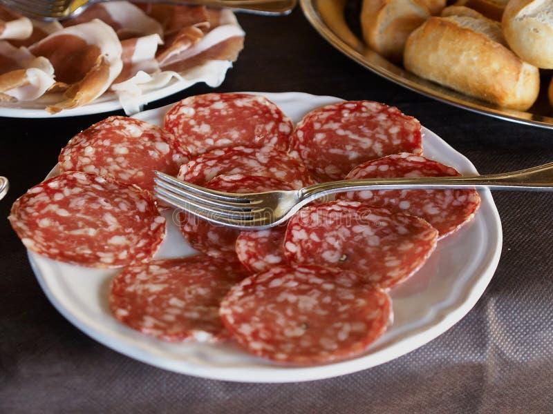 Desayuno italiano imagenes de archivo