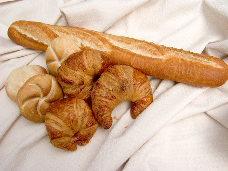Desayuno, pan fresco. imagen de archivo