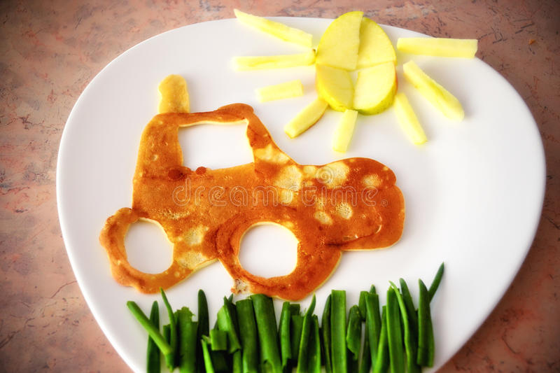 Desayuno para los niños fotos de archivo