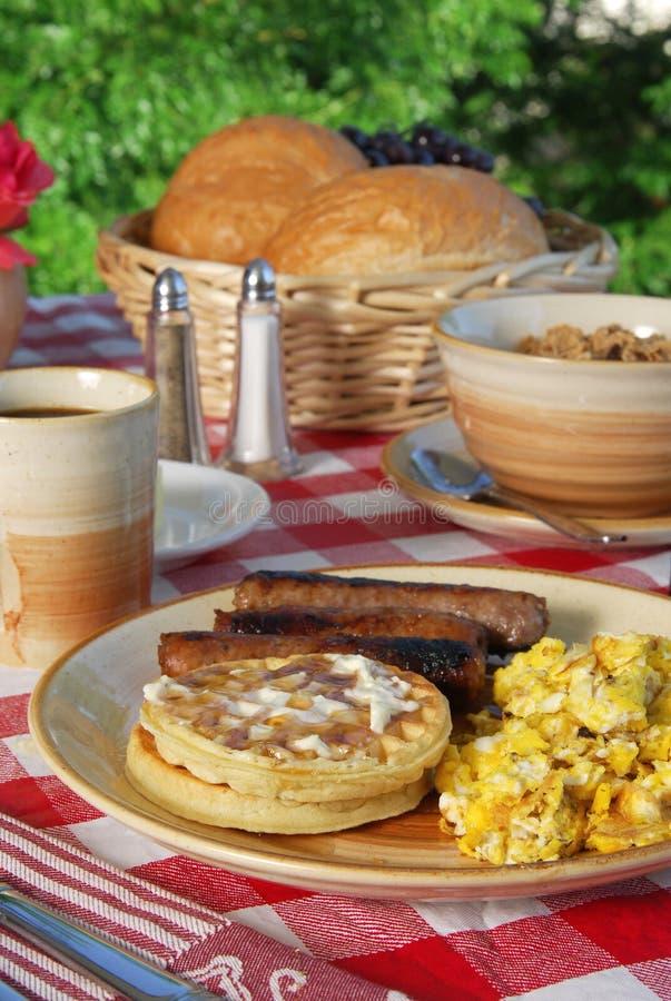 Desayuno por la mañana foto de archivo libre de regalías