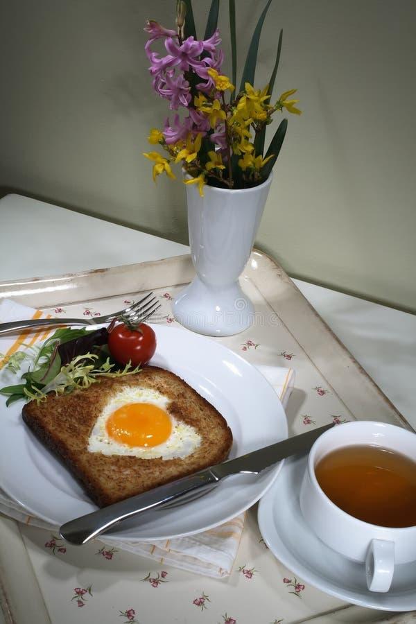 Desayuno romántico foto de archivo