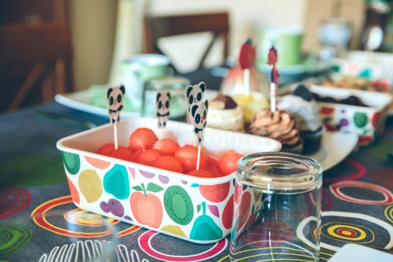 Desayuno sabroso para la diversión del partido foto de archivo libre de regalías