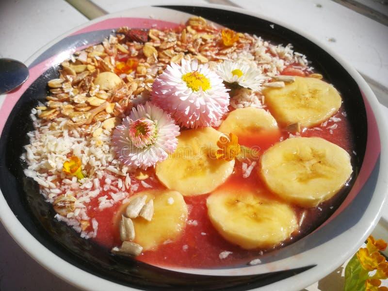 Desayuno sano del verano foto de archivo